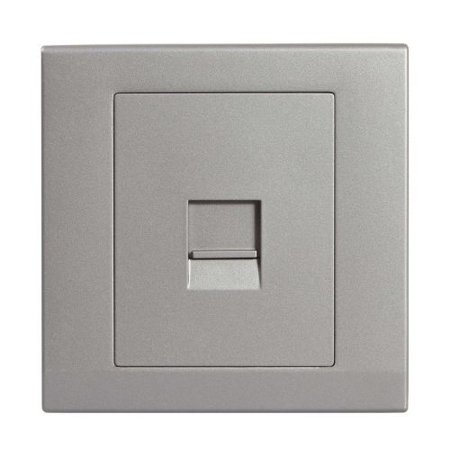 Simplicity Grey Screwless Single BT Slave Telephone Socket 07762